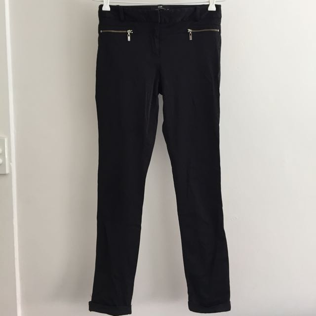 Black Cue Fitted Work Pants