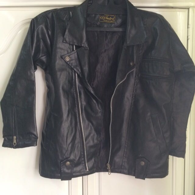 Black Moto Leather Jacket Preloved