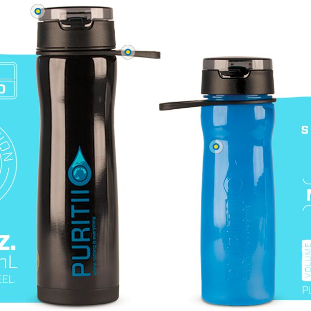 309a1f52c7 Brand New ARIIX PURITII Portable Water Filter Bottle, Water Bottle with  Filter, Travel, Travel Essentials, Outdoor & Camping on Carousell