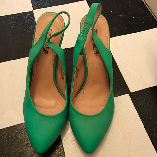 Bright Green Heel, Size 39