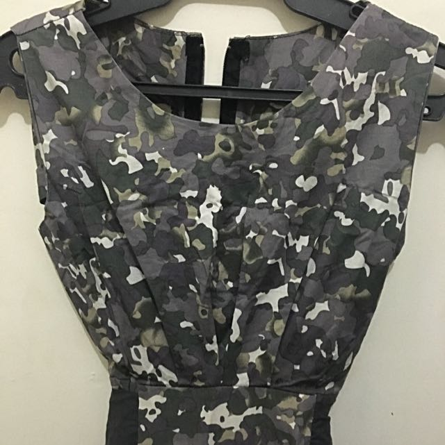 Camouflage Dress With Side Pockets