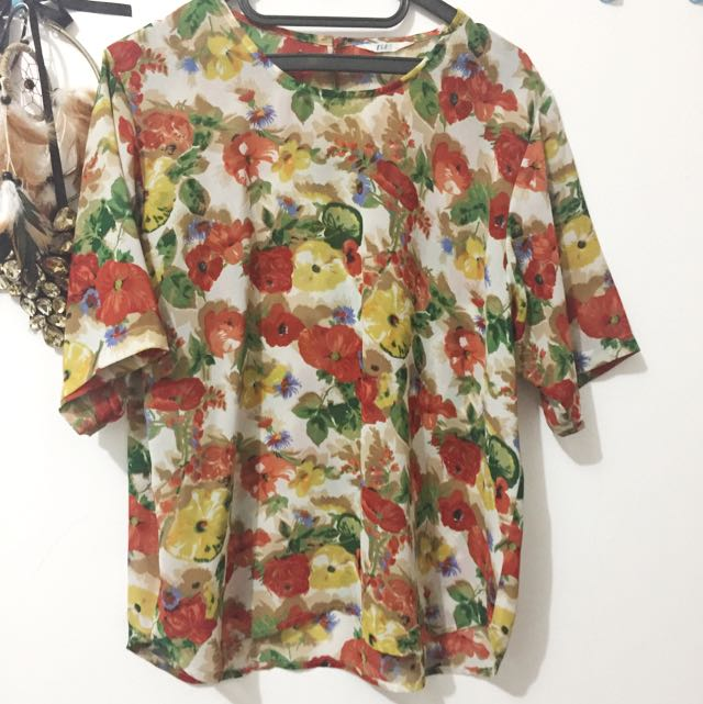 Chiffon Floral Top