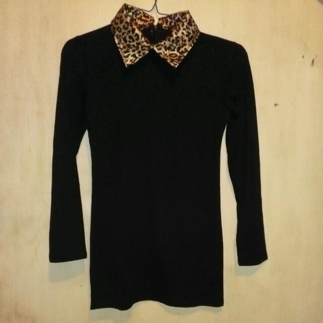 Collar Leopard shirt