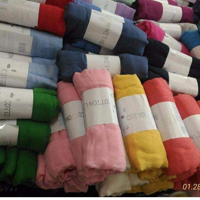 Cotton Linum Shawls