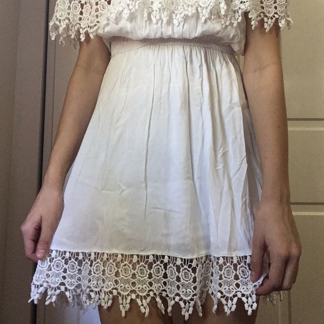 Cute Off The Shoulder White Dress