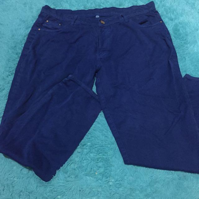 Dark blue jeans size besar