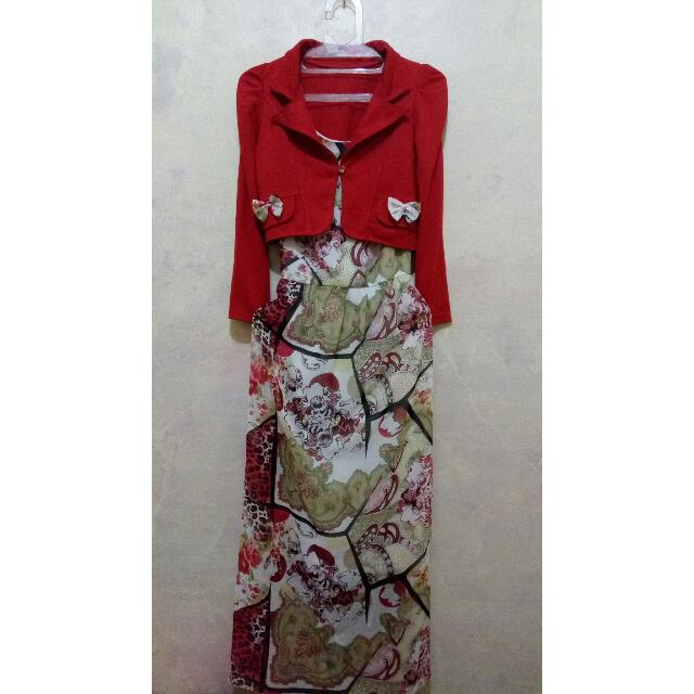 Dress Red Motif + Outer