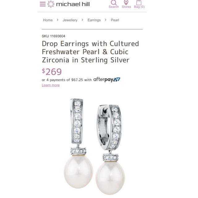 Drop Earrings With Cubic Zirconia Stones