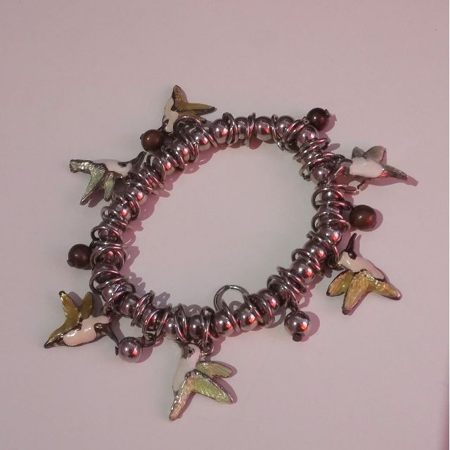 Elastic Bracelet with Bird charms