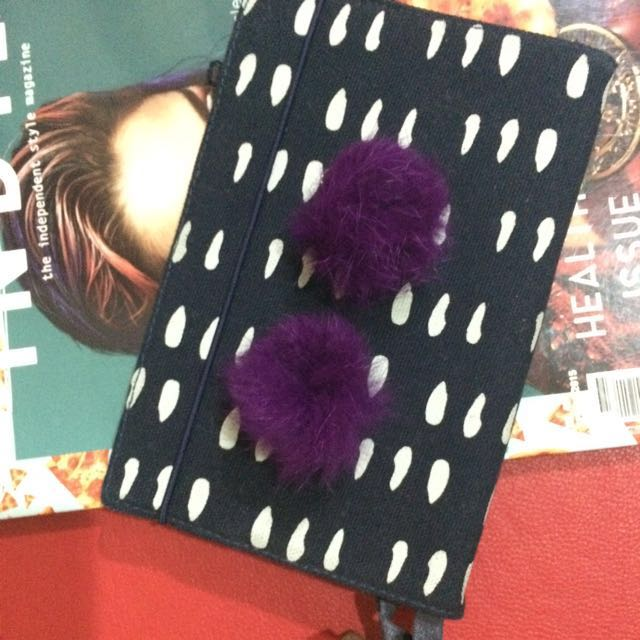 Faux Fur Purple Earring