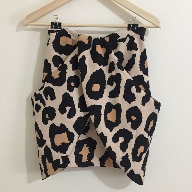 Finders Keepers Leopard Skirt