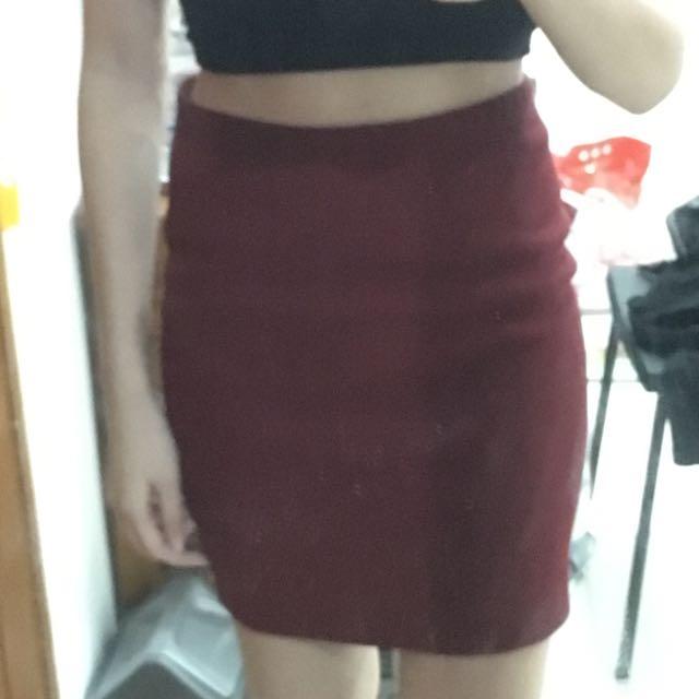 Forever21 Maroon Skirt
