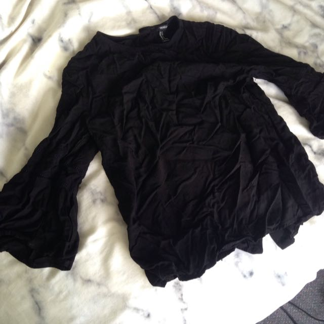 Forever21 Top With 3/4 Length Bell Sleeves