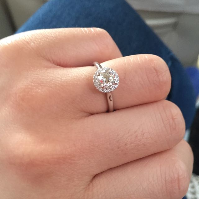 GIA Certified 0.6ct Diamond Ring Size 10