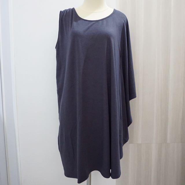 Half Sleeve Grey Dress