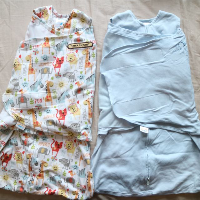 PRE-LOVED Halo SleepSack Swaddle Blue & Yellow Jungle Pals