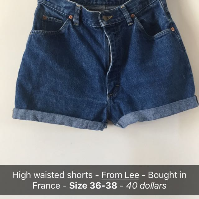 High Waisted Lee Shorts