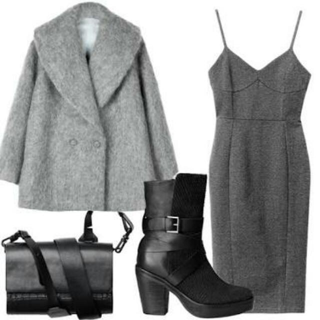 H&M Grey Bodycon Dress