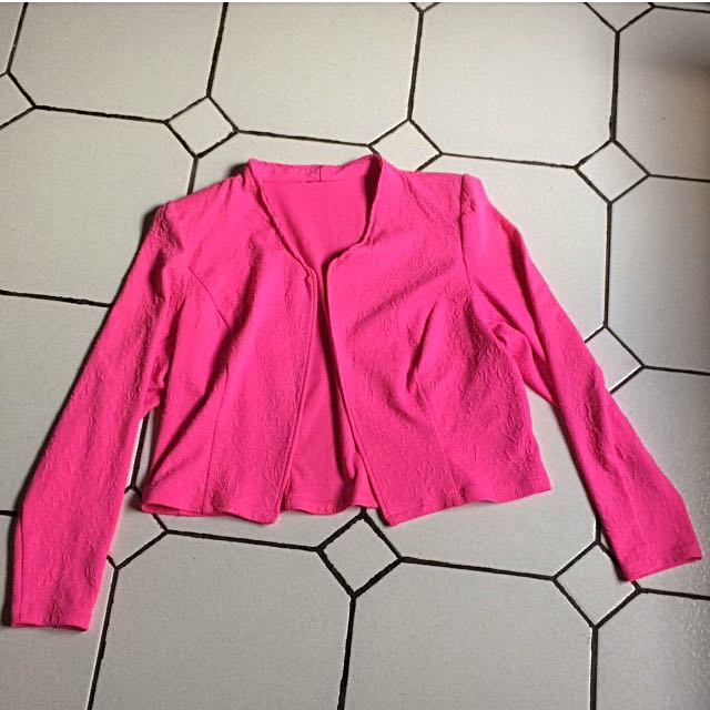 Hot Pink Crop Jacket