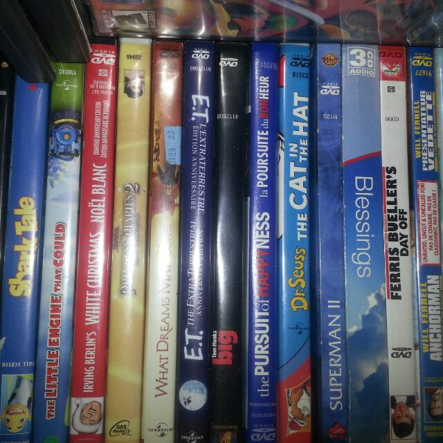 Kids  (DISNEY AND COMEDY) MOVIES  (DVD ) PLUS KIDS BOOK'S  ONLY  $5 EACH