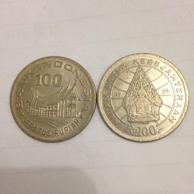 Koin kuno Indonesia Rp. 100,- thn 1978
