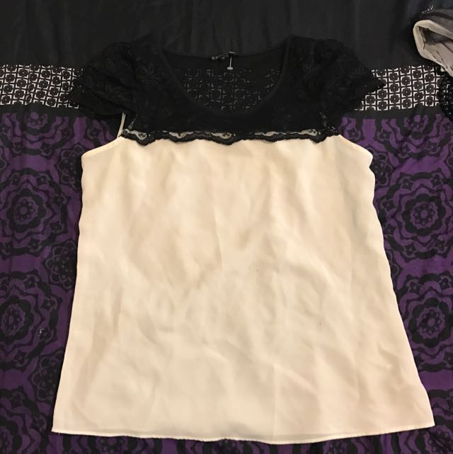 Lace And Silk Shirt