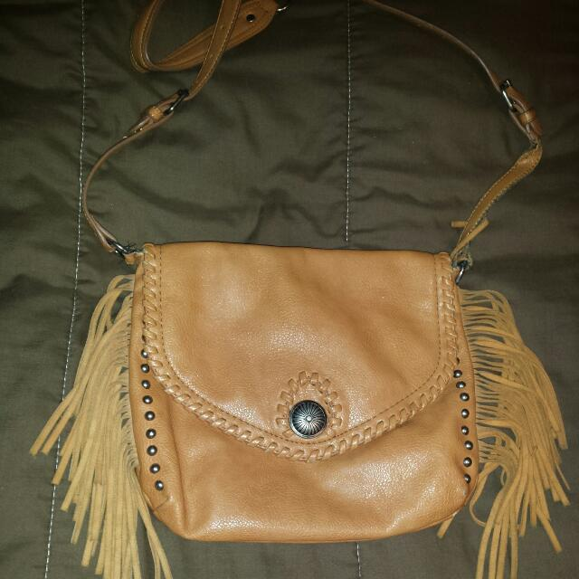 Light Brown Cross-Body Jessica Simpson Bohemian Purse