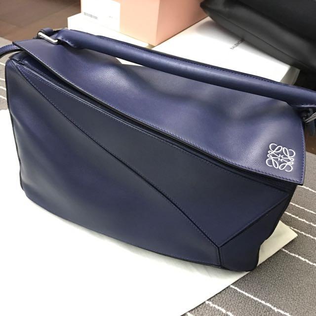 Loewe Puzzle Bag (Navy) L Size