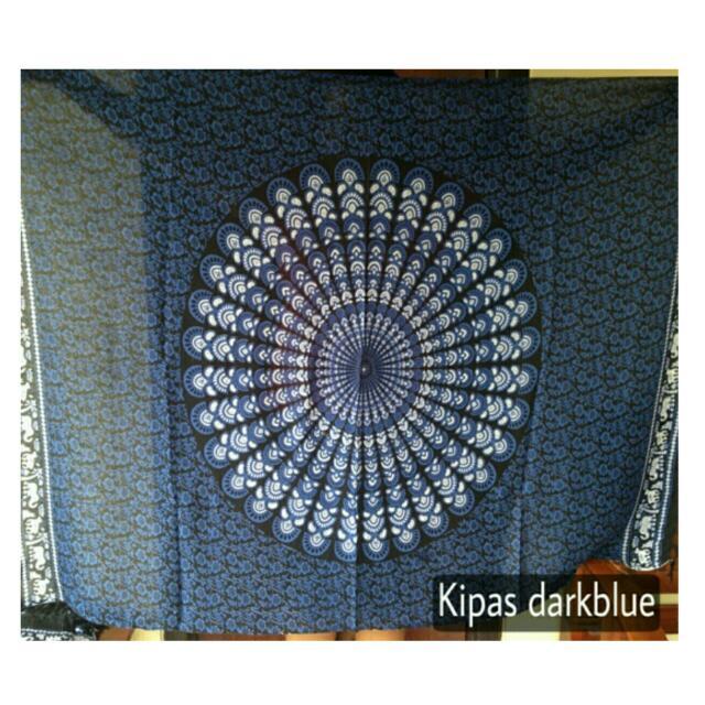 Mandala Tapestry Dark Blue