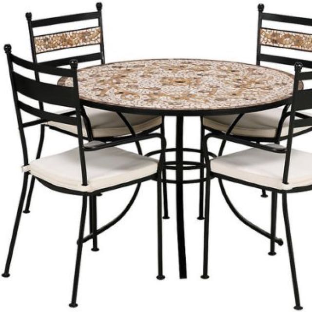 Marks Spencers Verona Garden Patio Mosaic Table 4 Chairs Furniture Tables On Carou