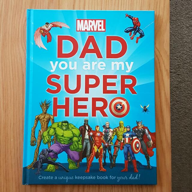Marvel 'Dad You Are My Super Hero' keepsake book for father and child. Hard Cover. Brand New. Rrp $16.99 Selling for $5.