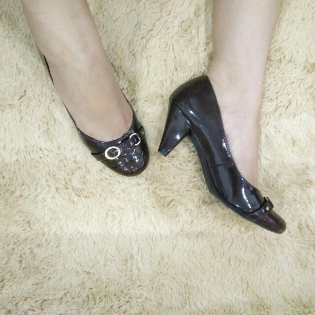 Brown Mid Heels by Comfort Plus