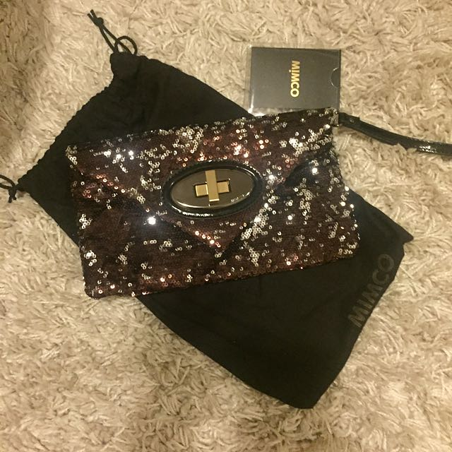 Mimco Sequin Envelope Clutch
