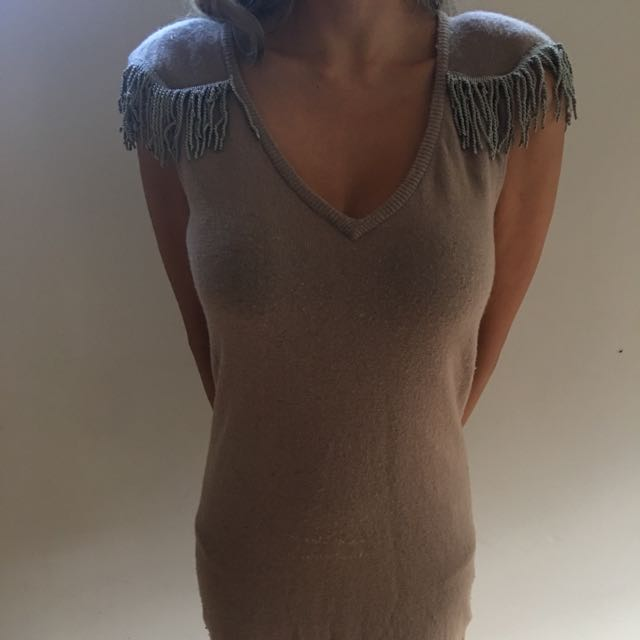 Mossman Frill Shoulder Dress
