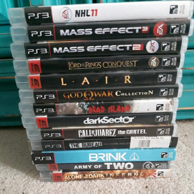 Multiple Video Games PS3