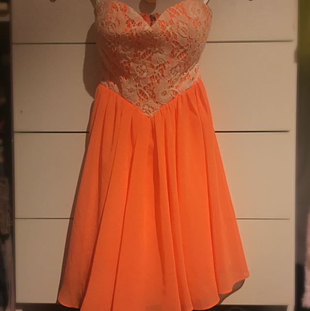 Orange Lace Dotti Dress