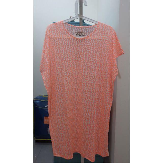 Orange Pattern Top