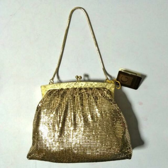 Original 1970s Glomesh Gold Hand Bag