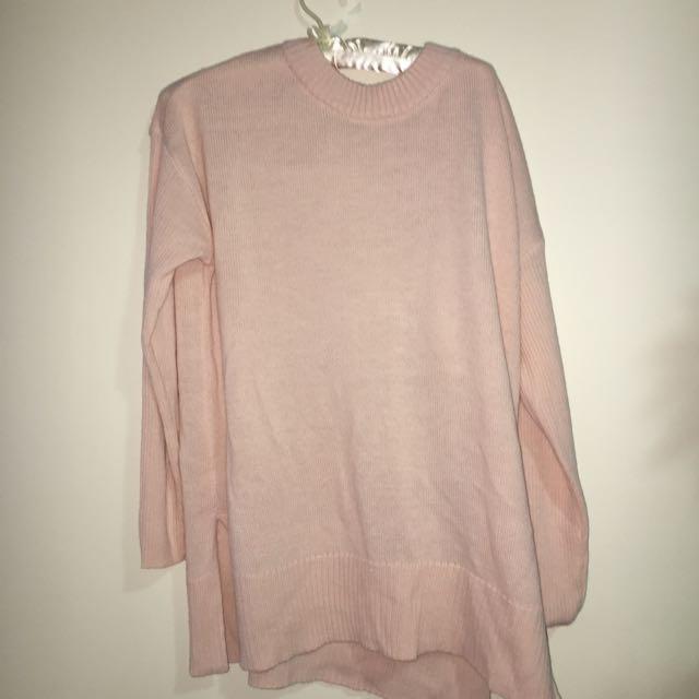 Oversized Pink Sweater