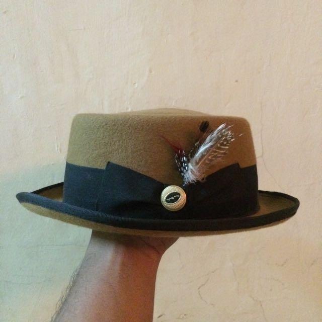 Gracefulvara Vintage Wanita Topi Fedora Hat Topi Bertepi Lebar Pita ... 29768e1643