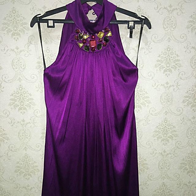 Pre❤️ SILK PURPLE BEBE DRESS Size M