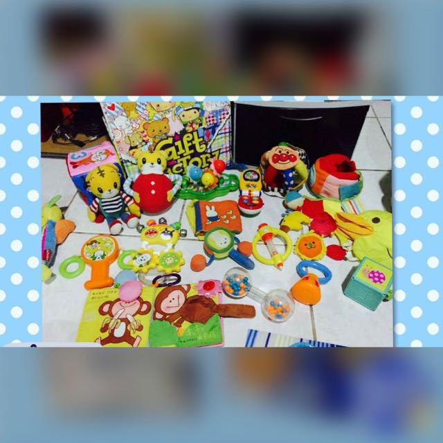 Preloved Rattles and Cloth Toys for Lo