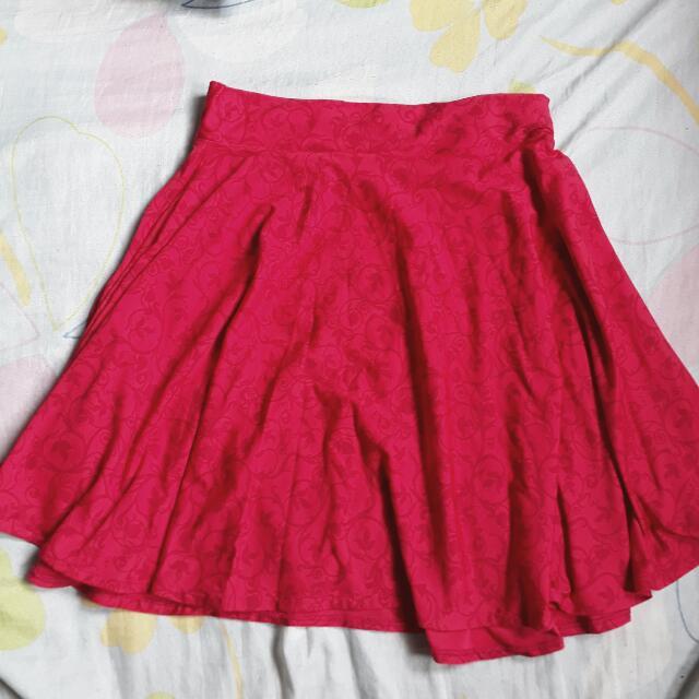 Red Skater's Skirt