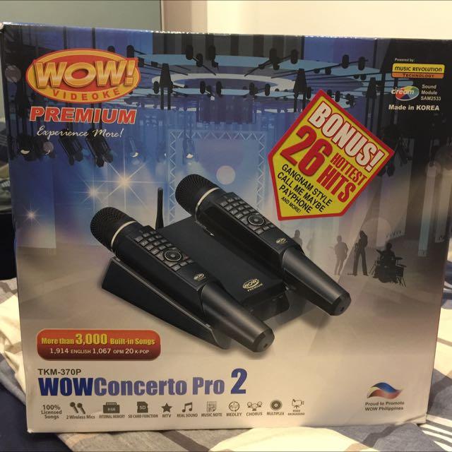 REDUCED PRICE] WOW Videoke Concerto Pro 2 TKM 370P Music & Media
