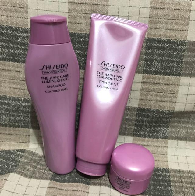 Shiseido Luminogenic Shampo, Condi & Mask For Coloured Hair
