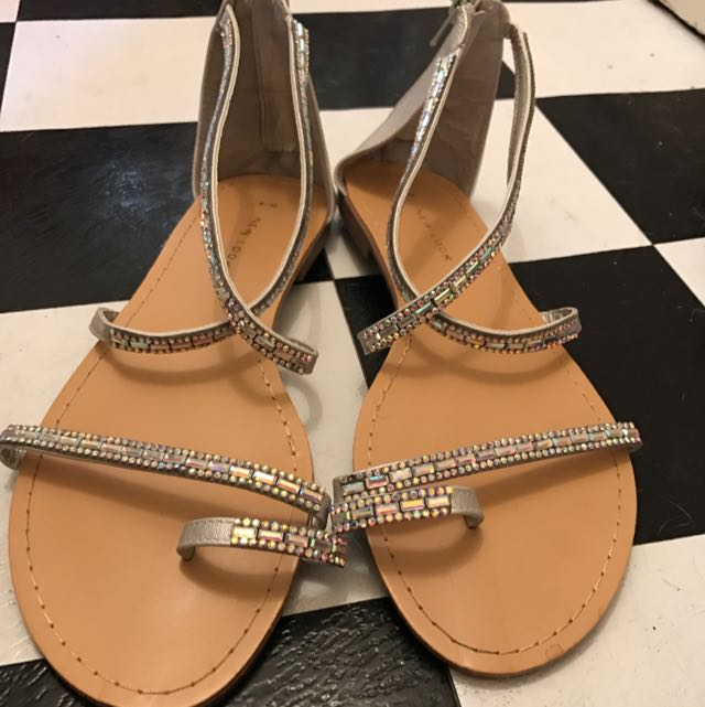 Silver Sandals, Size 39