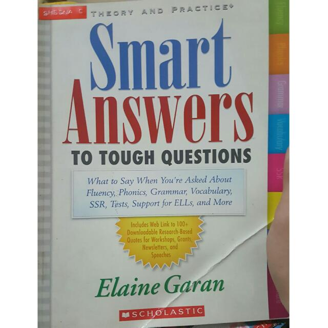 Smart Answers to Tough Questions by Elaine Garan