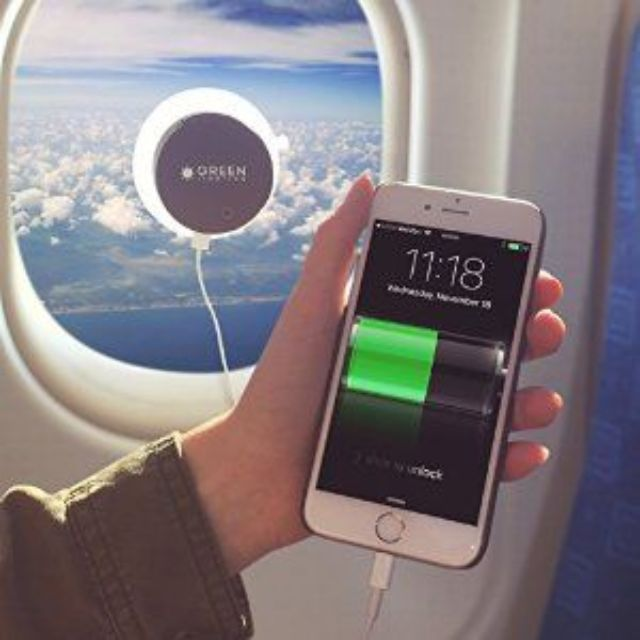 Solar Phone Charger - 2000mAh Window Cling Power Bank