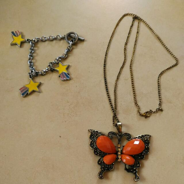 Statement Charm Bracelet Necklace