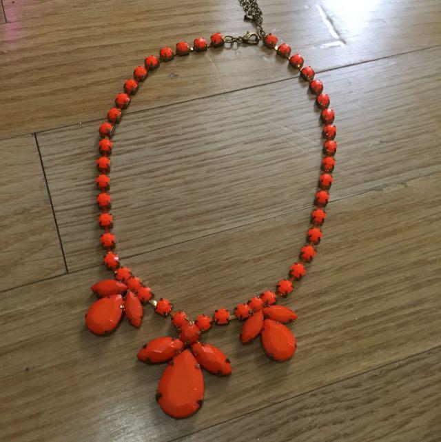 Statement Necklace Orange
